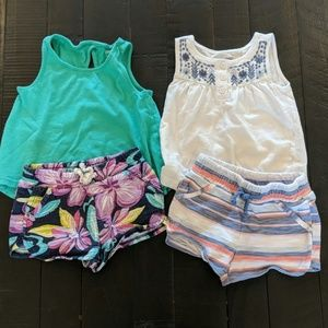 2 Gymboree tank and shorts outfits